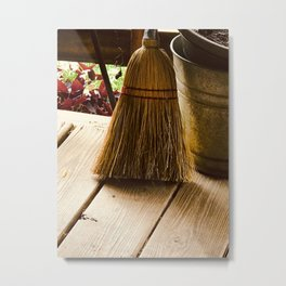 Porch Broom Metal Print