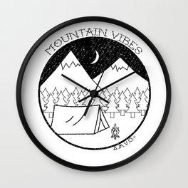 Mountain Vibes Wall Clock