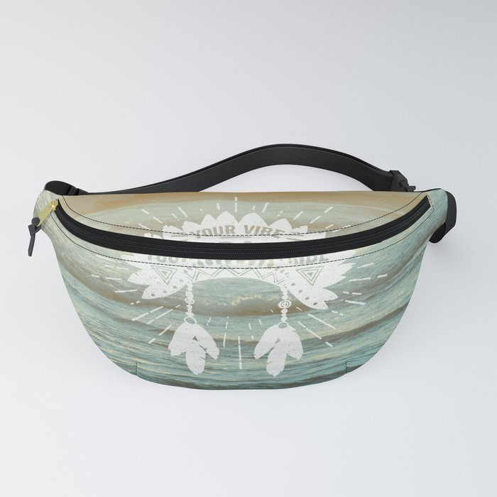 Your Vibe Attracts Your Tribe - Beach Sunset Fanny Pack