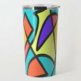 Blue blue multicolor Travel Mug