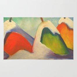 """Franz Marc """"Haystacks in the Snow"""" Rug"""