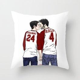 Sterek - Jerseys Throw Pillow