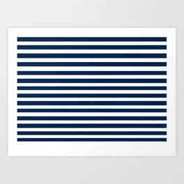 Navy-White ( Stripe Collection ) Art Print