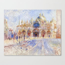 Renoir - The Piazza San Marco, Venice Canvas Print