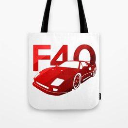 Ferrari F40 - classic red - Tote Bag