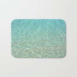 Colors of the Sea Water - Clear Turquoise Bath Mat