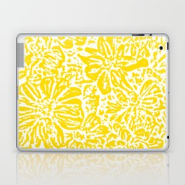 Gen Z Yellow Marigold Lino Cut Laptop & iPad Skin