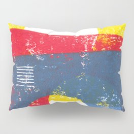 Basic in red, yellow and blue Pillow Sham