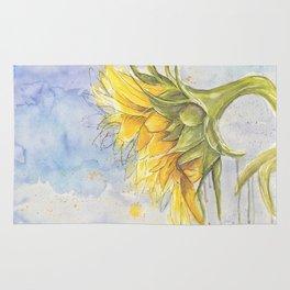Helianthus annuus: Sunflower Abstraction Rug