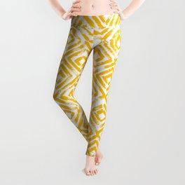 Amber Yellow Geometric Print Leggings