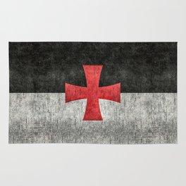 Knights Templar Flag in Super Grunge Rug