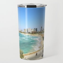 Tel Aviv from Jaffa Port, Israel Travel Mug
