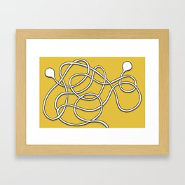 My Tangled Earbuds (Maze 71) Framed Art Print