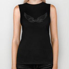 Castiel with Wings Black Biker Tank