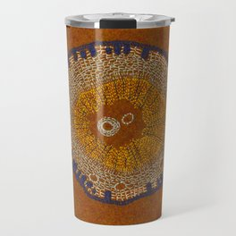 Growing - ginkgo - embroidery based on plant cell under the microscope Travel Mug