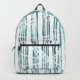 Abstract white and green forest Backpack
