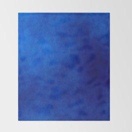 Misty Deep Blue Throw Blanket