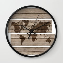 Scatter world map Wall Clock