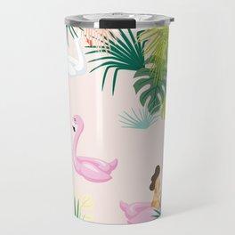 pink river Travel Mug