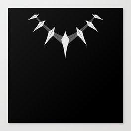 Black panther necklace Canvas Print