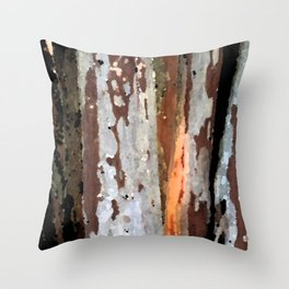 Rustic light wood Throw Pillow