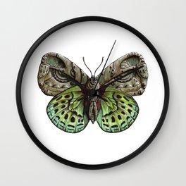 Green steampunk butterfly Wall Clock