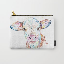 Manitoba Cow - Colorful Watercolor Painting Carry-All Pouch