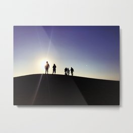 Sunset Silhouette Gang Metal Print
