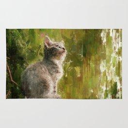 Cute abstract kitten Rug