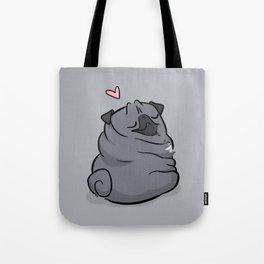 Roly Poly Black Pug Tote Bag