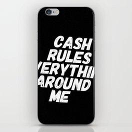 Cash Rules CREAM iPhone Skin