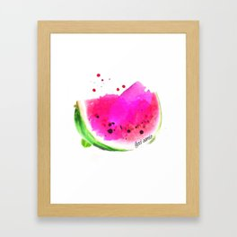 wendy the watermelon Framed Art Print