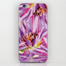 Big Waterlilies purple iPhone Skin