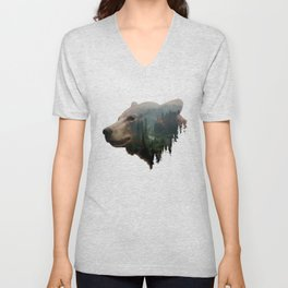 The Pacific Northwest Black Bear Unisex V-Neck