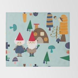 gnome blue Throw Blanket