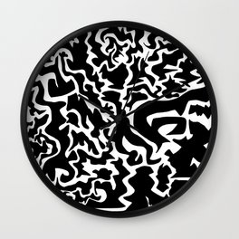Random Shapes Design Wall Clock