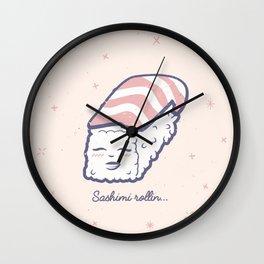 Sashimi Rollin' Wall Clock