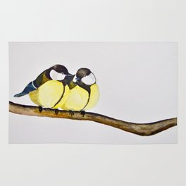 A Pair of Great Tits Rug
