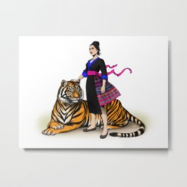 Yer and the Tiger Metal Print