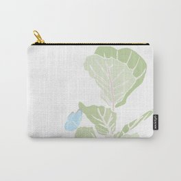 Fig Tree and Blue Butterfly Carry-All Pouch