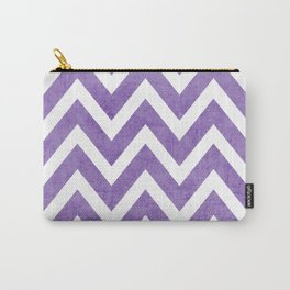 purple chevron Carry-All Pouch
