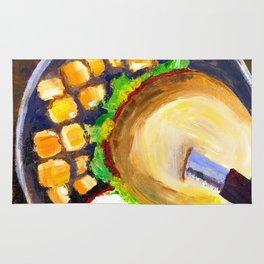 Blueplate burger Rug