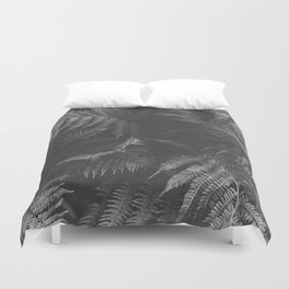 Colorless Fern Duvet Cover
