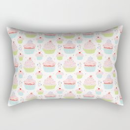 Pastel Cupcakes Food Vector Pattern Rectangular Pillow