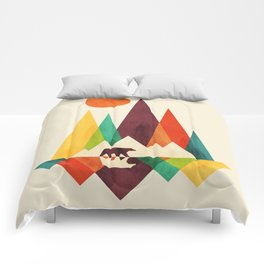 Bear In Whimsical Wild Comforters
