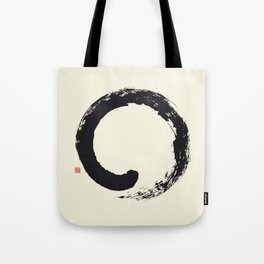 Enso / Japanese Zen Circle Tote Bag