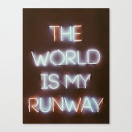 The World is my Runway (color) Canvas Print