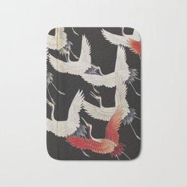 Furisode with a Myriad of Flying Cranes (Japan) Bath Mat