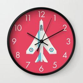 English Electric Lightning RAF Jet Fighter - Crimson Wall Clock