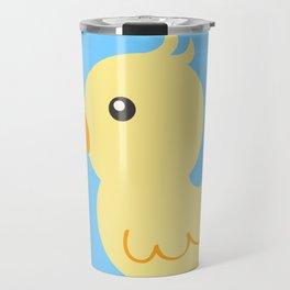 Yellow rubber ducks illustration Travel Mug